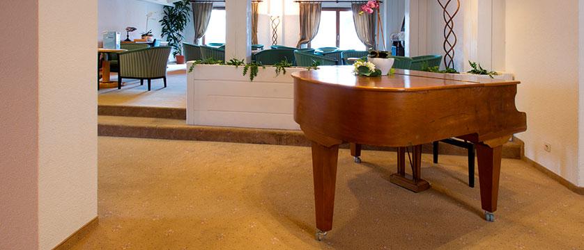 Hotel Silberhorn, Wengen, Bernese Oberland, Switzerland - piano in lounge.jpg
